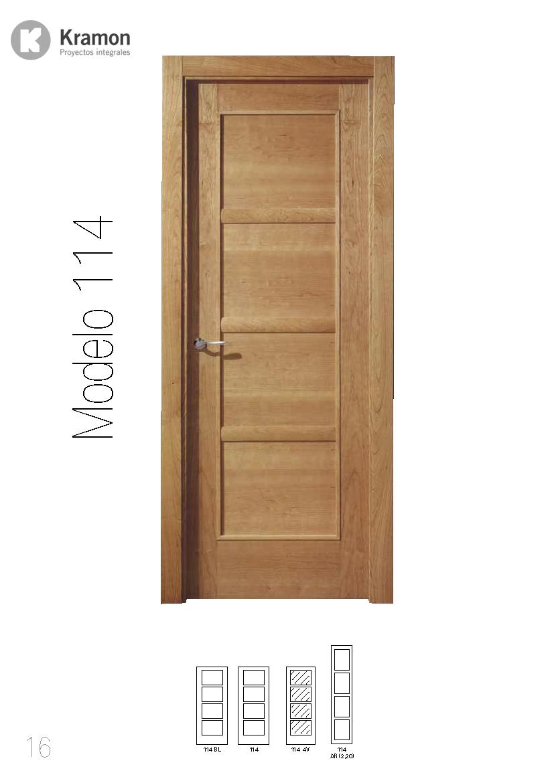 Cat logo de puertas kramon for Catalogo de puertas